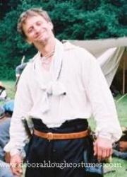 17th century English civil War linen shirt